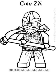 ninjago cole zx coloring page free printable coloring pages - Free Printable Coloring Pictures