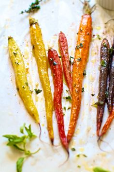 Roasted Rainbow Carrots Two Ways: Sweet + Savory via @FamilyFreshCooking.com © MarlaMeridith.com