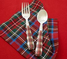 Tartain Plaid Utensils #pbkids