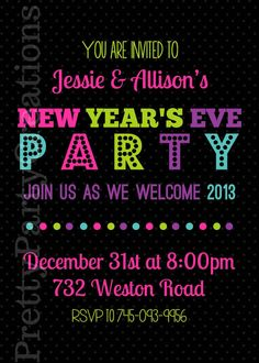 new years eve party invitation you print