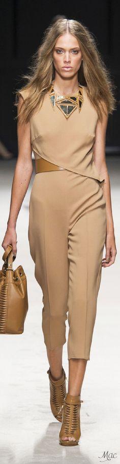 Elisabetta Franchi, Spring 2016. women fashion outfit clothing style apparel @roressclothes closet ideas