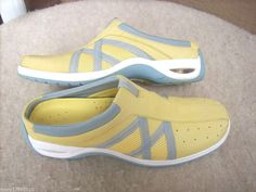 Cole Haan Nike Air women shoes 7.5 AA Yellow Clogs  #ColeHaan #Clogs #Casual