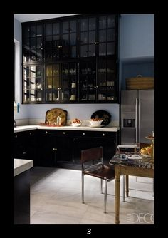 Kitchen Cabinets Black black kitchen cabinets, white counters, brass/gold faucet and