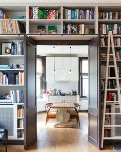 storage/bookcase with doors to cozy room?