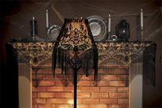 Versatile Gothic Black Lace Bat and Skull Halloween Gala Decoration 22 x 60 * Want additional info? Click on the image.