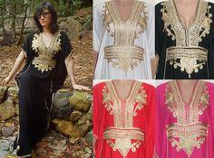 Maxi Dress Kaftan Caftan  Bohemian Batwing Farasha Vintage Premium Quality Cotton one size  fits all 8 10 12 14 16 18 20 uk, size 4 to 16 us
