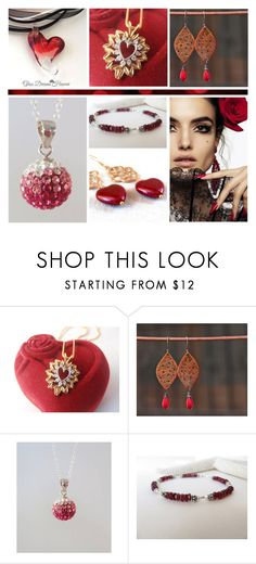 Valentine's Day Jewelry on #Etsy by funnfiber on Polyvore featuring Blanca