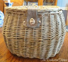 Basket with strap tucked in.  http://thededicatedhouse.blogspot.com/2013/05/my-little-shopping-spree.html
