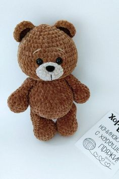 Amigurumi Little Bear Free Crochet Pattern - Amigurumi Crochet Crochet Teddy Bear Pattern, Crochet Amigurumi Free Patterns, Crochet Animal Patterns, Stuffed Animal Patterns, Crochet Dolls, Easy Crochet Animals, Cute Crochet, Crochet Crafts, Crochet Projects