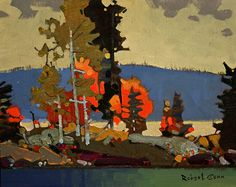 """Lake of the Woods by Robert Genn, 8 x 10"""", acrylic painting   The Artists Road"""