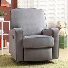 Pulaski Sutton Stella Swivel Glider Recliner Chair, Grey