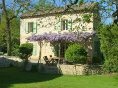 In this post – what color to paint a Provence French style house? The time to paint the exterior of our house is around the… French Cottage, French Country House, French Farmhouse, Country Style, Gazebos, Stone Houses, My Dream Home, Exterior Design, Outdoor Gardens