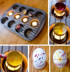 Pisanky are Ukrainian Easter eggs that are done with bee-wax and a special tool. The wax is melted and then it is applied onto a white egg. Then you color the egg, add more wax, color again… until … Easter Arts And Crafts, Egg Crafts, Diy And Crafts, Crafts For Kids, Easter Table, Easter Party, Easter Cartoons, Ukrainian Easter Eggs, Diy Ostern