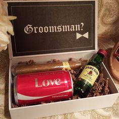 Groomsman proposal gift