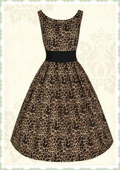 Lindy Bop 50er Jahre Rockabilly Petticoat Leo Kleid - Lana - Braun