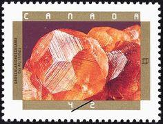 Sello: Grossular (Canadá) (150th Anniv. of Geological Survey of Canada.  Minerals) Mi:CA 1322,Sn:CA 1440,Yt:CA 1277,Sg:CA 1513