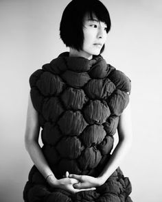 Soft Sculptural Fashion with repeating shapes and padded structure - pattern, volume and texture; wearable art // Borre Akkersdijk