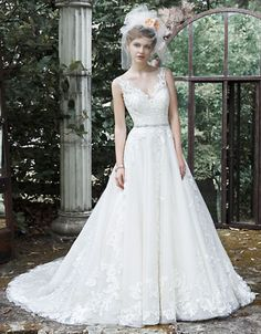 MAGGIE SOTTERO | Wedding Gowns | Sybil Tulle and Lace Ball Gown | Hudson's Bay WEB ID #: 0049-5MS701