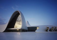 Zaha Hadid is one the famous architect among all architects. Here is the beautiful creation of Zaha Hadid named Heydar aliyev center and pictures of Heyder aliyev center interior. Zaha Hadid Architecture, Architecture Design, Amazing Architecture, Contemporary Architecture, Futuristic Architecture, Zaha Hadid Buildings, Office Buildings, Building Architecture, Chinese Architecture
