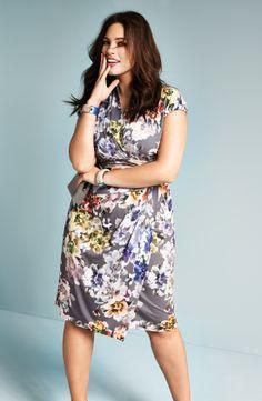 Ivy & Blu Shirred Surplice Neckline Dress (Plus Size) | Nordstrom