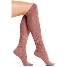 SmartWool Wheat Fields Knee-High Socks ($14) ❤ liked on Polyvore featuring intimates, hosiery, socks, moab rust heather, smartwool socks, knee high socks, knee length socks, knee socks and knee hi socks