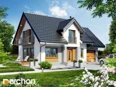Dom w lantanach House Made, My House, Best Tiny House, Modern House Plans, Home Fashion, My Dream Home, Gazebo, Sweet Home, New Homes