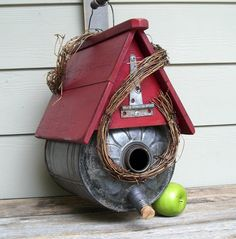 Rustic Birdhouses | ... Birdhouse, Outdoor Birdhouse, Recycled, Repurposed, Rustic Birdhouse