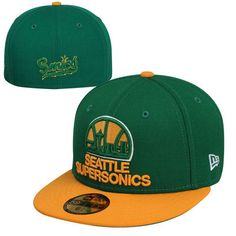 41e9679d391 New Era Seattle SuperSonics Hardwood Classics 2-Tone Vintage 59FIFTY Fitted  Hat - Green