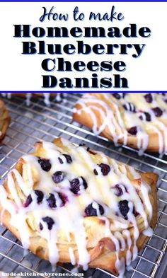 These Blueberry Cheese Danish are buttery, sweet and loaded with fresh blueberries. – Kudos Kitchen by Renee Source by redstaryeast Link To The Recipe Breakfast Pastries, Breakfast Items, Breakfast Dishes, Breakfast Healthy, Breakfast Cheese Danish, Cream Cheese Danish, Pilsbury Recipes, Baking Recipes, Dessert Recipes