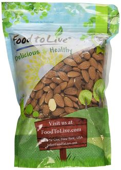 Food To Live Almonds (Whole, Raw, Shelled, Unsalted) (2 Pounds) ** Wow! I love this. Check it out now! : Fresh Groceries