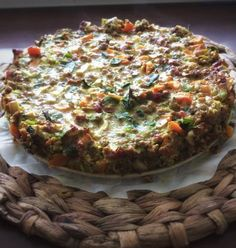 Vegetable Pizza, Quiche, Om, Vegetables, Breakfast, Recipes, Morning Coffee, Recipies, Quiches
