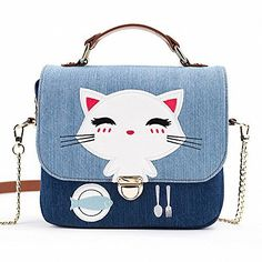 New Trending Briefcases amp; Laptop Bags: Plumemoon Womens School Girls Denim Canvas Briefcases Multipurpose Messenger Bag with Cute Cat Pattern for 7.5-8.2 Inch Laptop,Tablet PC,Phone. Plumemoon Women's School Girls Denim Canvas Briefcases Multipurpose Messenger Bag with Cute Cat Pattern for 7.5-8.2 Inch Laptop,Tablet PC,Phone  Special Offer: $44.50  155 Reviews Features: 1–Jar-proof:The thickness and the shape of the bag can protect your thi