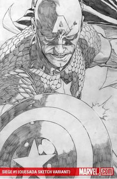 Siege #1 Captain America Sketch variant.  Click on the picture for more information...