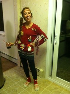 This guy won first place at our ugly sweater party.   Ugly ...