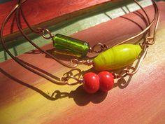 Bangle bracelet set 3 stacking bracelets by SunshineDaydreamz, $15.00