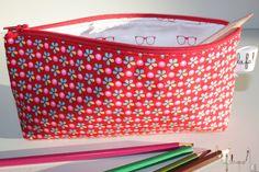 Trousse à crayons pour l'école en coton : Ecole et loisirs par la-fabrique-de-lili