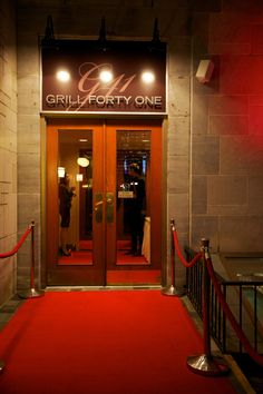 Red Carpet Arrival at Grill 41 located in the Lord Elgin Hotel.