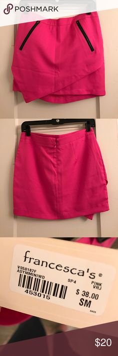 Hot Pink Skirt from Francesca's Hot Pink Skirt from Francesca's - 15 inches Buttons  Skirts Mini