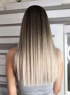 Looking for feminine and attractive hair colors and hairstyles? You may see here gorgeous collection of long straight and straight blonde and ombre hairstyles to show off in 2018. This is the sign of femininity and charm. Woemn around the world love to sport it because of its elegance and attractive personality.