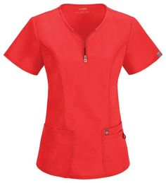 code happy Antimicrobial Scrubs -Zipper Logo V-Neck Top (Certainty) Cherokee Uniforms, Happy Women, Scrub Tops, Office Outfits, Cute Tops, Custom Clothes, V Neck Tops, Dress Patterns, Scrubs