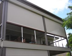 Outdoor balcony privacy blinds - Balconies are meant to give the apartment residents additional living space, fresh air and for some lucky residents, a nice view. Balcony Blinds, Cafe Blinds, Privacy Blinds, House Blinds, Balcony Privacy, Blinds Curtains, Outdoor Awnings, Outdoor Blinds, Outdoor Balcony
