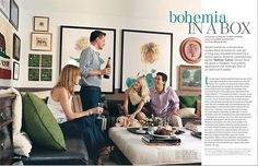 Eclectic prints and frames [Photo credit: Miguel Flores-Vianna, Domino magazine]