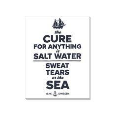Salt Water Cure-All Canvas Print   dotandbo.com