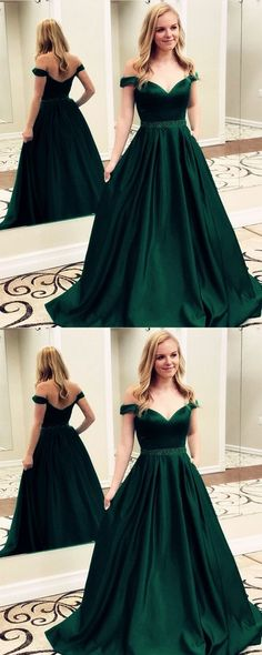 9e98397714 V-neck Off the shoulder Long Satin Prom Dresses Beaded Sashes Evening Gowns  from fancydress