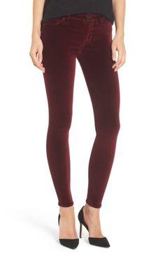 Hudson Nico Ankle Skinny Velvet Pants In Blackstar Trouser Jeans, Denim Jeans, Black Jeans, Trousers, Velvet Pants, Hudson Jeans, Ankle Pants, Skinny Legs, Super Skinny