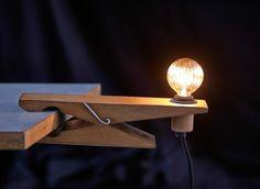 Clamp Wood Desk Lamp