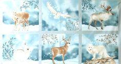 Kaufman Fabrics - Lynnea Washburn 'Winter White' we-116-01-7013