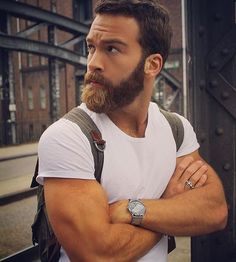 Beard and arms
