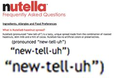 You've been pronouncing Nutella wrong: