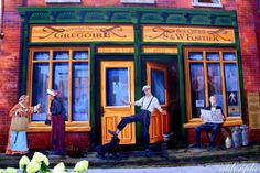 Fresco in Sherbrooke - Fresque à Sherbrooke - Eastern Townships - Cantons-de-l'Est - Estrie